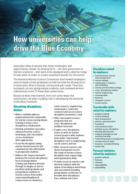 Download the Universities fact sheet.